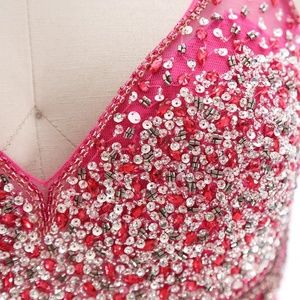 Dresses - Mermaid Crystals Fuchsia Pageant Gown Prom Dresses